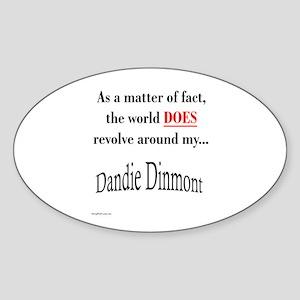 Dandie World Oval Sticker