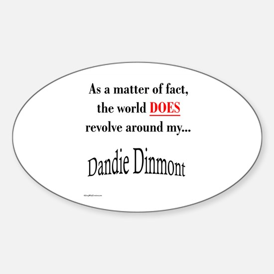 Dandie World Oval Decal