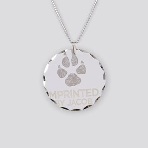 Imprinted -dk Necklace Circle Charm