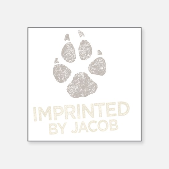 "Imprinted -dk Square Sticker 3"" x 3"""