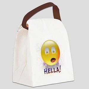 HELLA Smiley Canvas Lunch Bag