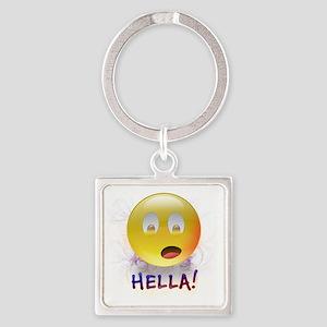 HELLA Smiley Square Keychain