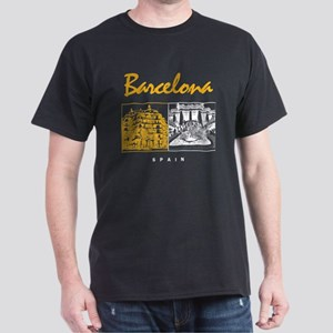 Barcelona_7x7_apparel_CasaMila_ParcGu Dark T-Shirt
