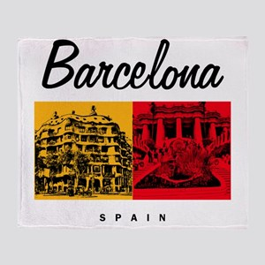 Barcelona_7x7_Bag_CasaMila_ParcGuell Throw Blanket