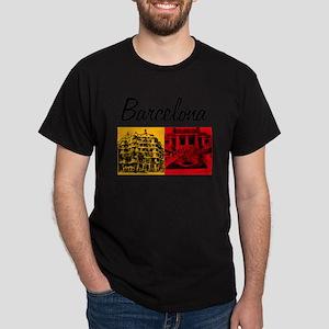 Barcelona_7x7_Bag_CasaMila_ParcGuell Dark T-Shirt