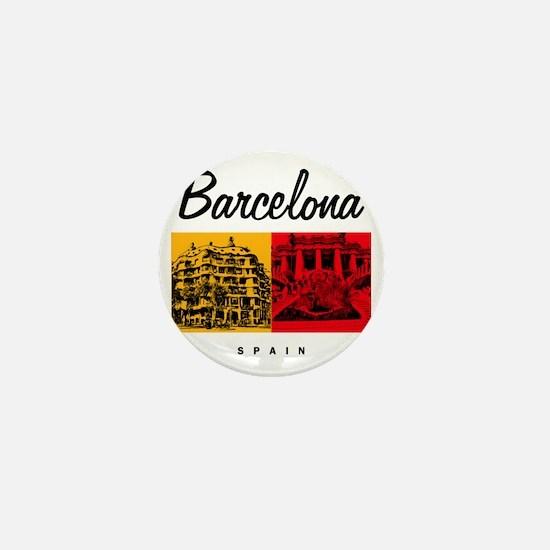Barcelona_7x7_Bag_CasaMila_ParcGuell Mini Button