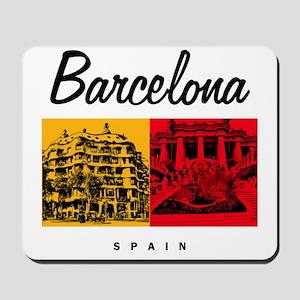 Barcelona_7x7_Bag_CasaMila_ParcGuell Mousepad