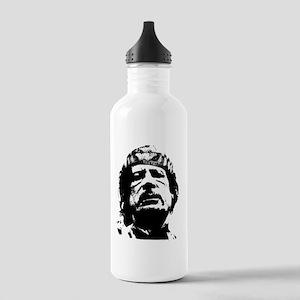 gaddafi-transparent Stainless Water Bottle 1.0L