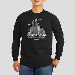 Barcelona_10x10_apparel_L Long Sleeve Dark T-Shirt