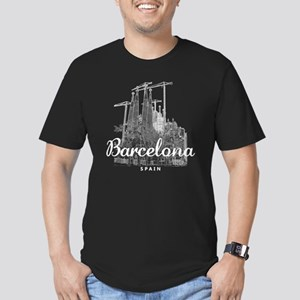 Barcelona_10x10_appare Men's Fitted T-Shirt (dark)