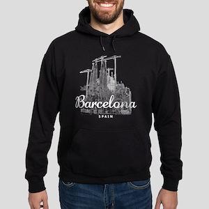 Barcelona_10x10_apparel_LaSagradaFam Hoodie (dark)