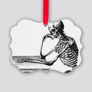 Skeleton Thinker Picture Ornament