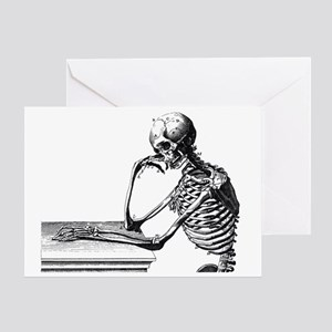 Skeleton Thinker Greeting Card