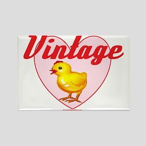 vintage chick  big Rectangle Magnet