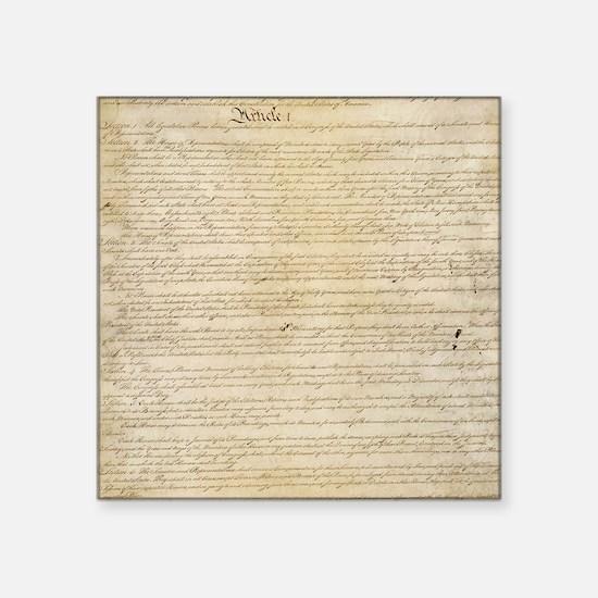 """ConstitutionFULL Square Sticker 3"""" x 3"""""""