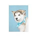 Siberian Husky Puppy 5'x7'Area Rug