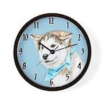 Siberian Husky Puppy Wall Clock