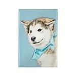 Siberian Husky Puppy Rectangle Magnet (100 pack)