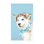 Siberian Husky Puppy Sticker (Rectangle 10 pk)