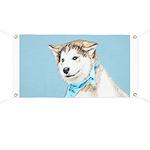 Siberian Husky Puppy Banner