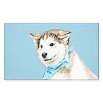 Siberian Husky Puppy Sticker (Rectangle 50 pk)