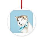 Siberian Husky Puppy Round Ornament