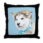 Siberian Husky Puppy Throw Pillow