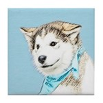 Siberian Husky Puppy Tile Coaster