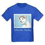 Siberian Husky Puppy Kids Dark T-Shirt