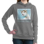 Siberian Husky Puppy Women's Hooded Sweatshirt