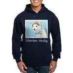 Siberian Husky Puppy Hoodie (dark)
