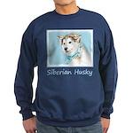 Siberian Husky Puppy Sweatshirt (dark)