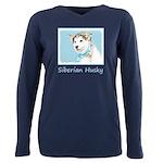 Siberian Husky Puppy Plus Size Long Sleeve Tee