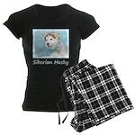 Siberian Husky Puppy Women's Dark Pajamas