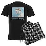 Siberian Husky Puppy Men's Dark Pajamas