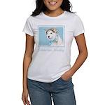 Siberian Husky Puppy Women's Classic White T-Shirt