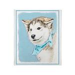 Siberian Husky Puppy Throw Blanket
