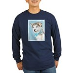 Siberian Husky Puppy Long Sleeve Dark T-Shirt