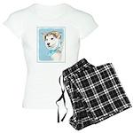Siberian Husky Puppy Women's Light Pajamas
