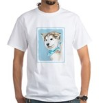 Siberian Husky Puppy White T-Shirt