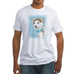 Siberian Husky Puppy Fitted T-Shirt