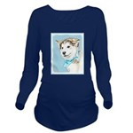 Siberian Husky Puppy Long Sleeve Maternity T-Shirt