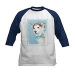 Siberian Husky Puppy Kids Baseball Tee