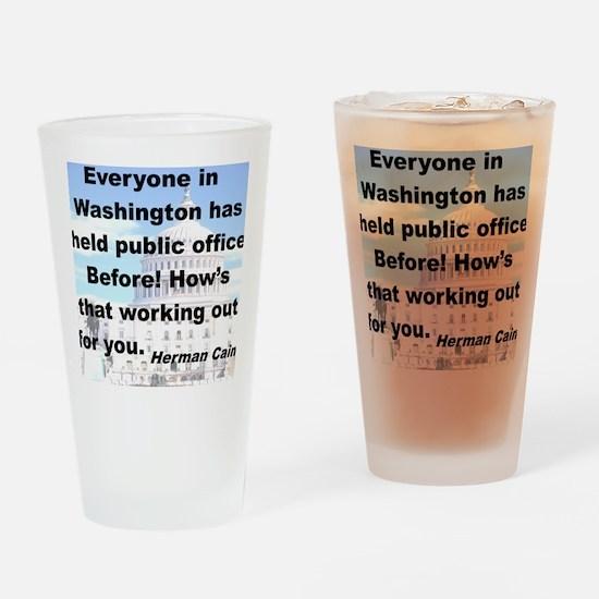 EVERYONE IN WASHINGTON HAS HELD PUB Drinking Glass