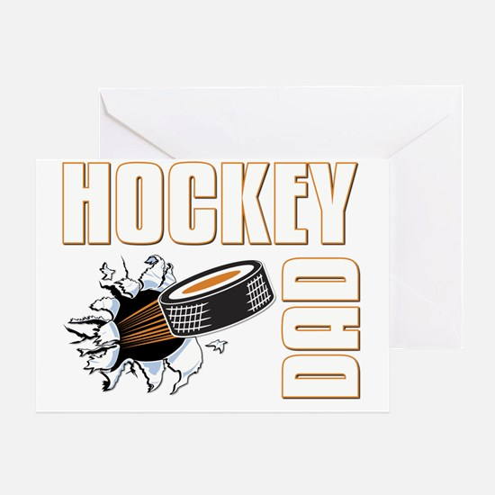 hockeydad001-dark Greeting Card