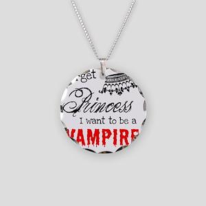 Princess Vampire Necklace Circle Charm