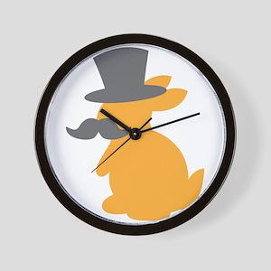 Top hat cutie bunny with bunny Wall Clock