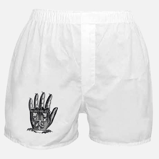 Steampunk mechanical hand Boxer Shorts