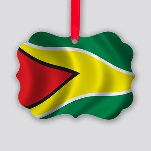 guyana_flag Picture Ornament