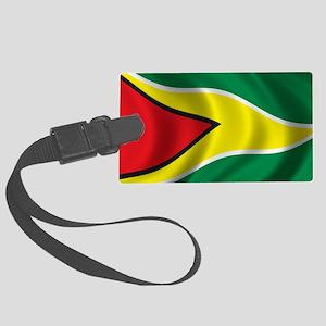 guyana_flag Large Luggage Tag